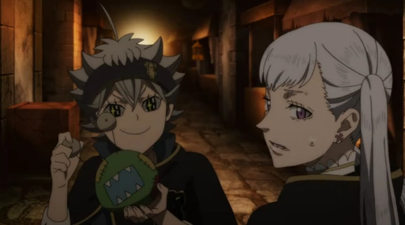 ブラッククローバーしゃべる人形とアスタ